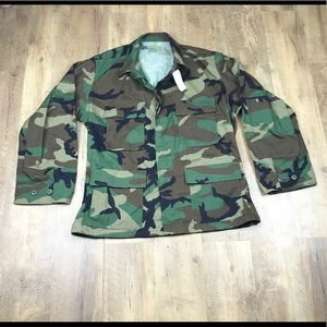 Camouflage US Army Military Issue Camo Jacket